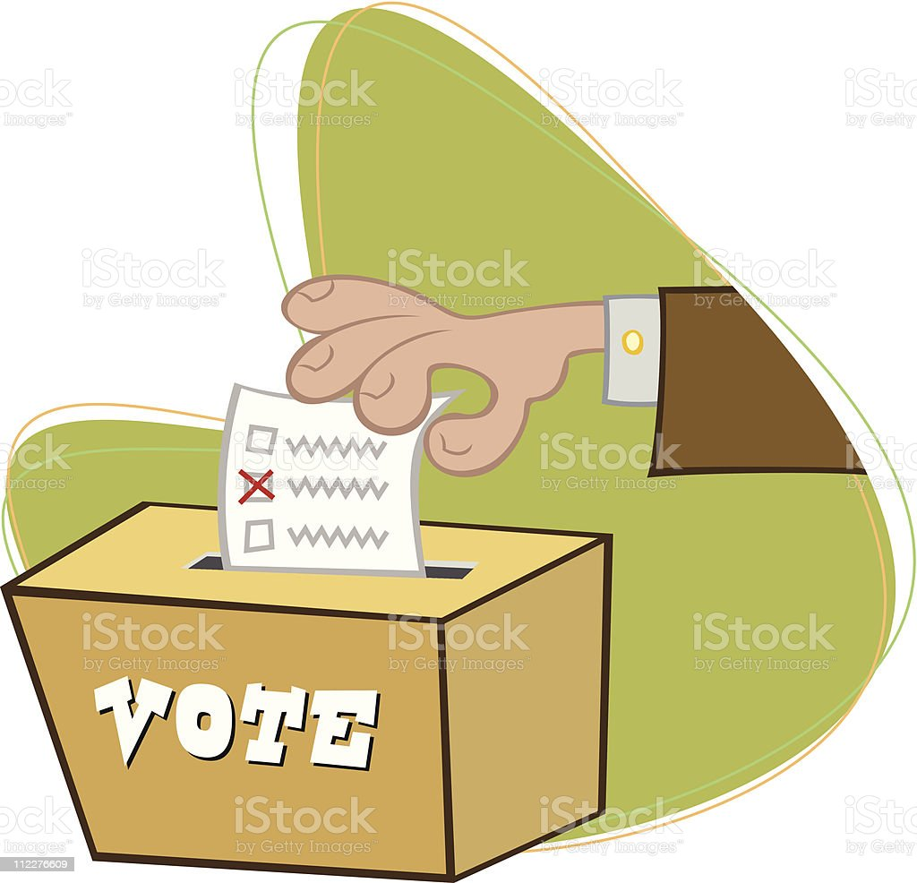 Hand Voting royalty-free hand voting stock vector art & more images of box - container