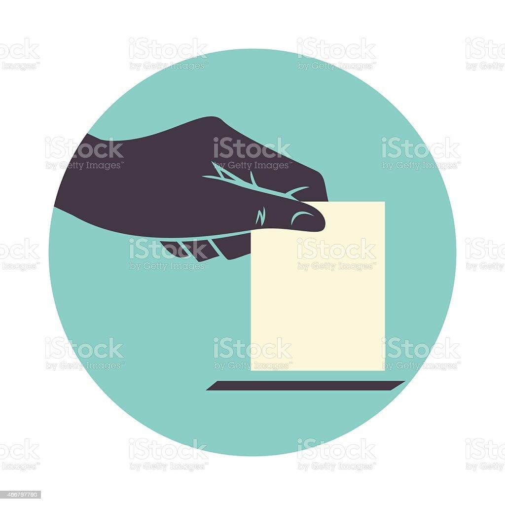Hand voting vector art illustration