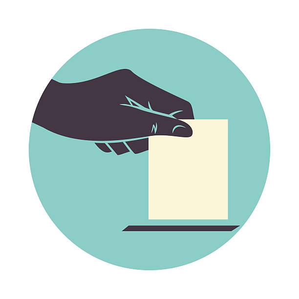 hand voting - ballot stock illustrations