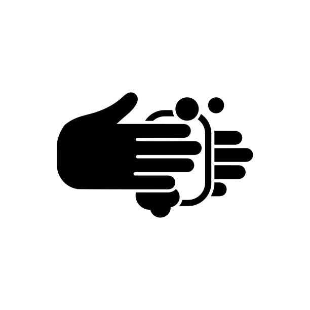 手洗いアイコン - 背景に人点のイラスト素材/クリップアート素材/マンガ素材/アイコン素材