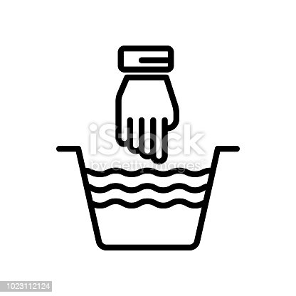 Hand Wash Icon Vector Sign And Symbol Isolated On White Background