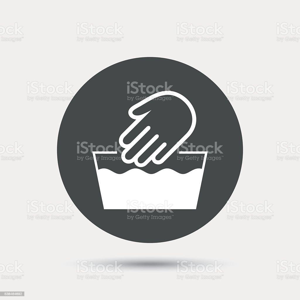 Hand Wash Sign Icon Not Machine Washable Symbol Stock Vector Art