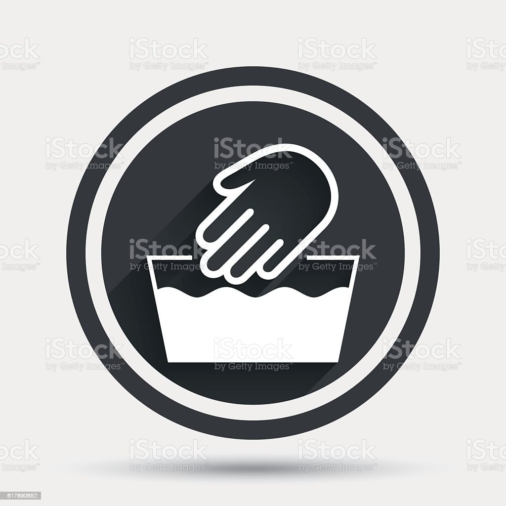Hand wash sign icon not machine washable symbol stock vector art hand wash sign icon not machine washable symbol royalty free hand wash sign buycottarizona Image collections