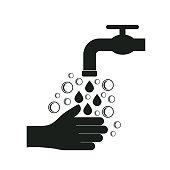 hand wash. eps 10 vector file