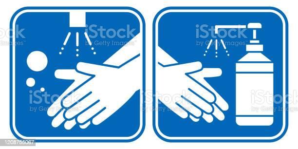 Vetores de Conjunto De Ícones Do Vetor De Higiene De Higienização Das Mãos E Desinfetante Das Mãos e mais imagens de Bacillus Subtilis