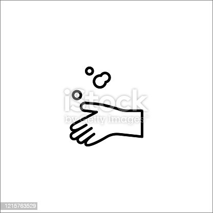 istock hand washing, hand cleanning icon vector illustration 1215763529