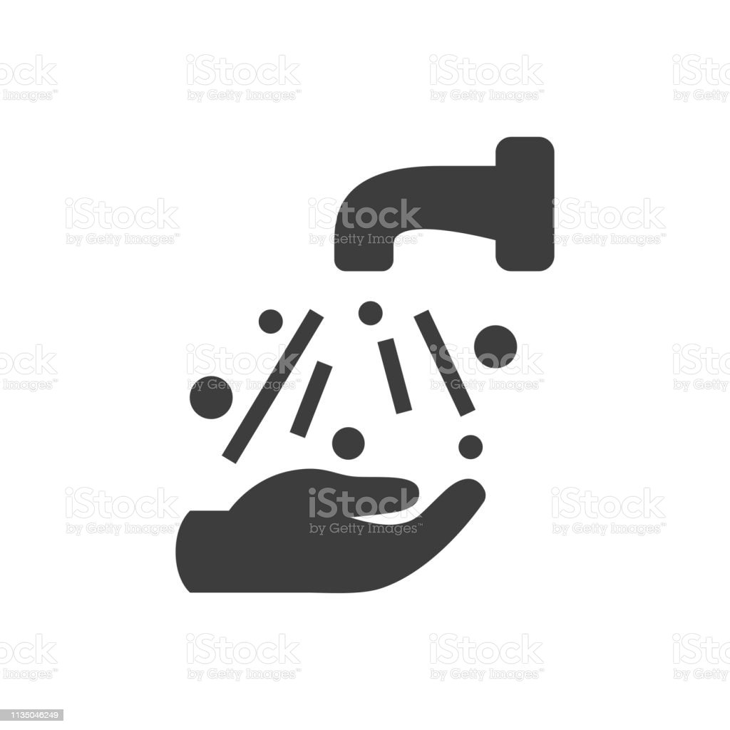 Ícone de lavagem da mão - Vetor de Higiene royalty-free