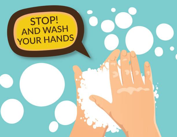 Hand Washing Poster vector art illustration