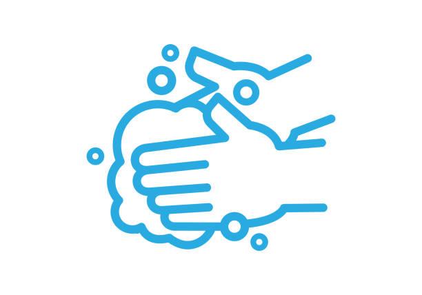 bildbanksillustrationer, clip art samt tecknat material och ikoner med handtvätt - washing hands