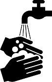 washing hands design element symbol