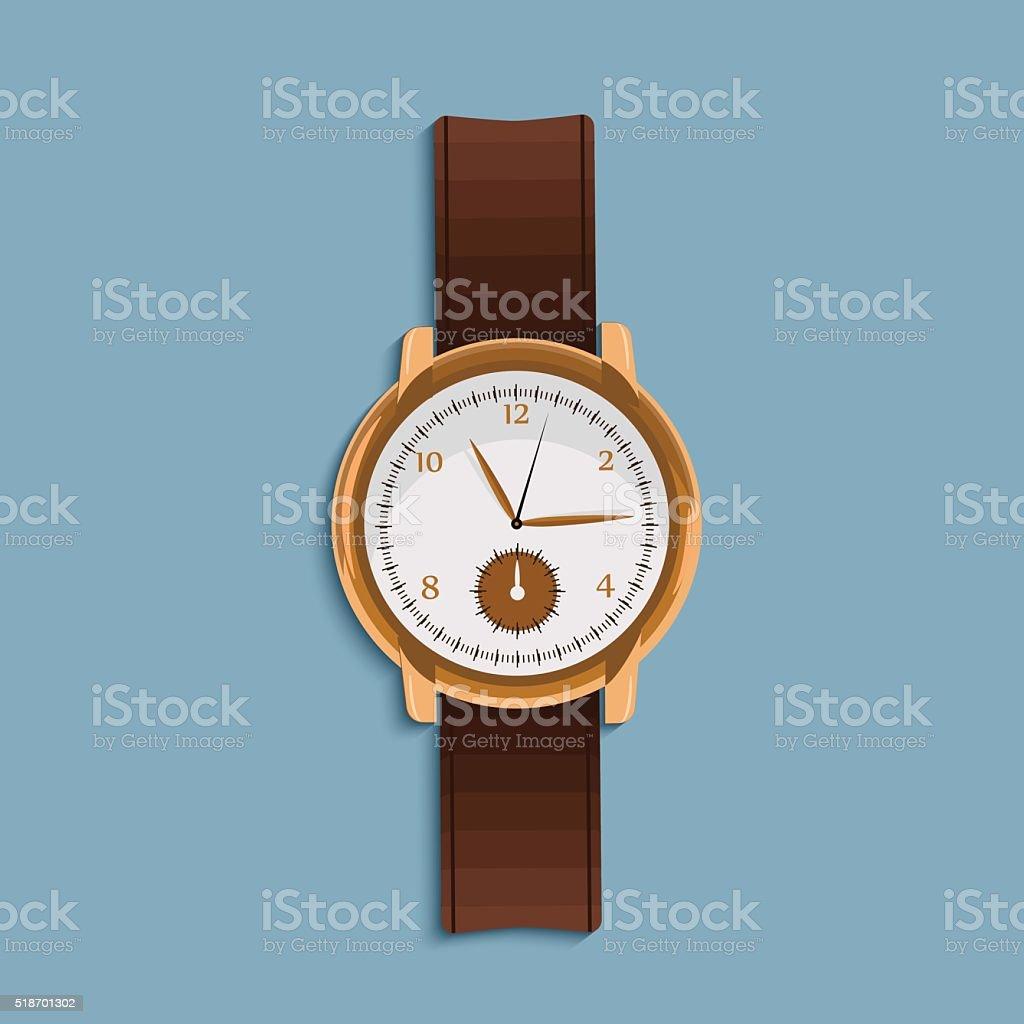 hand watch in flat design