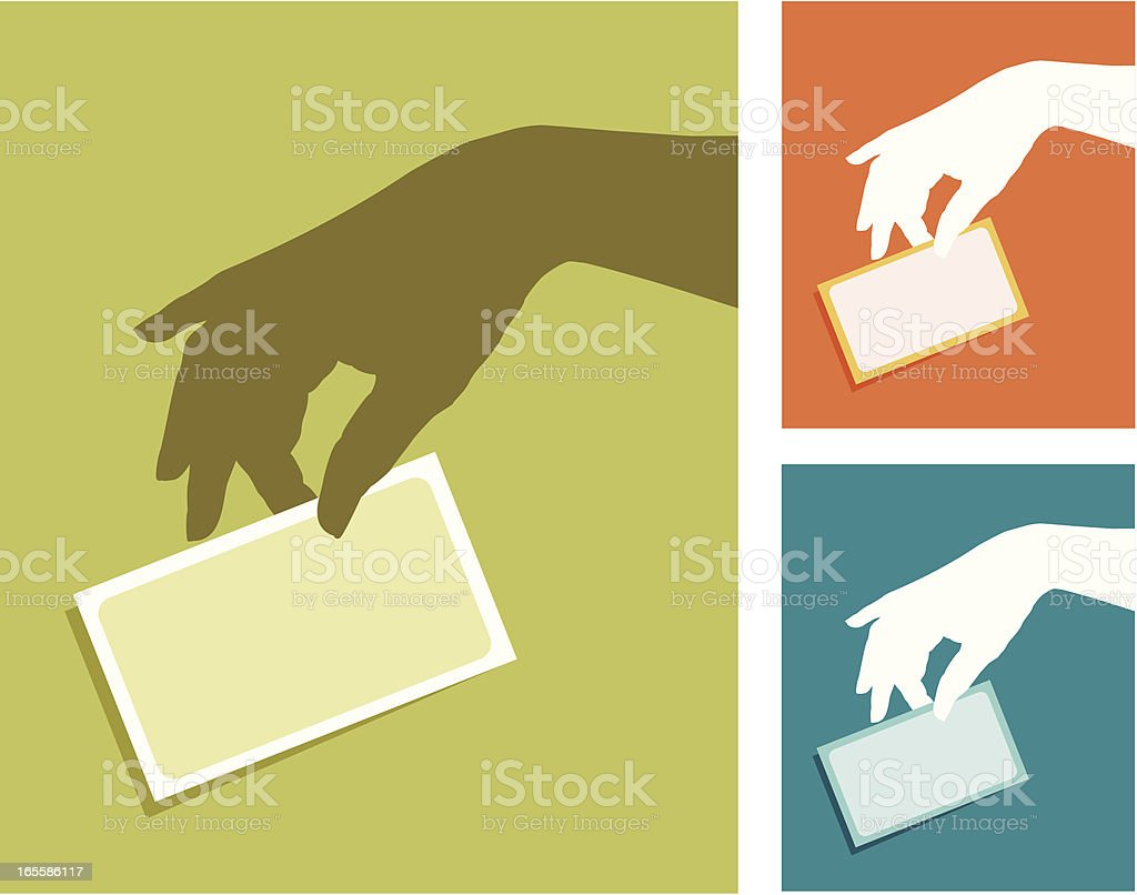 Hand with a card royalty-free stock vector art