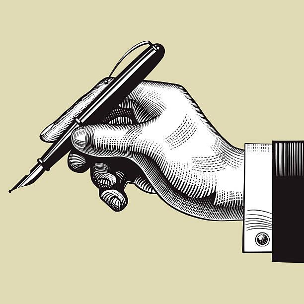 La main avec un stylo - Illustration vectorielle