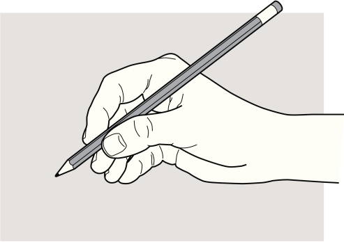 Hand with a pencil