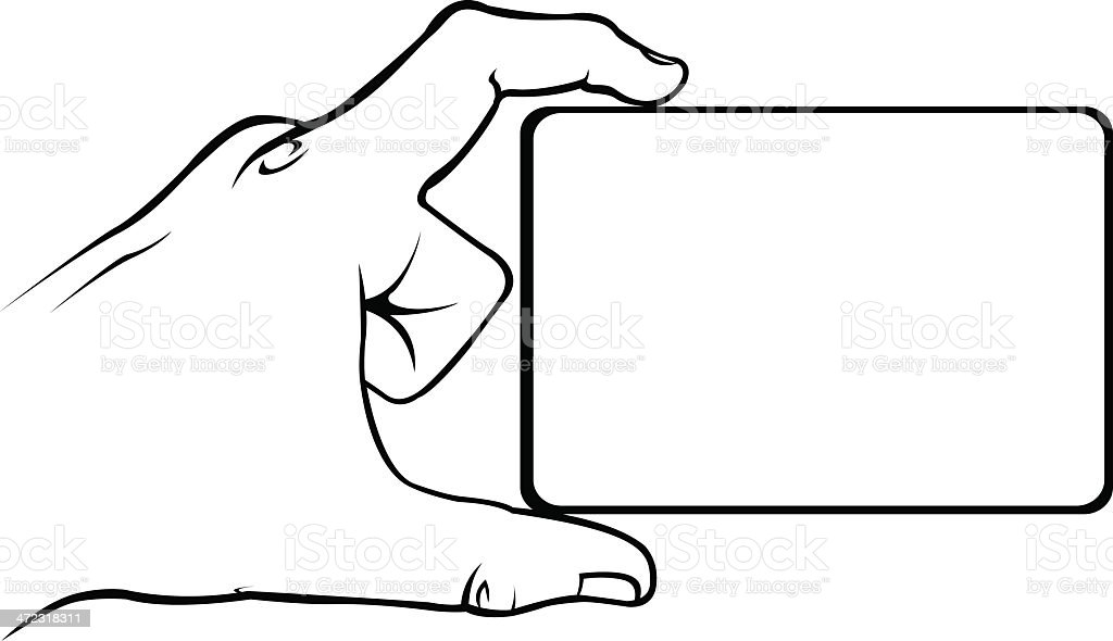 Main avec bannière - Illustration vectorielle