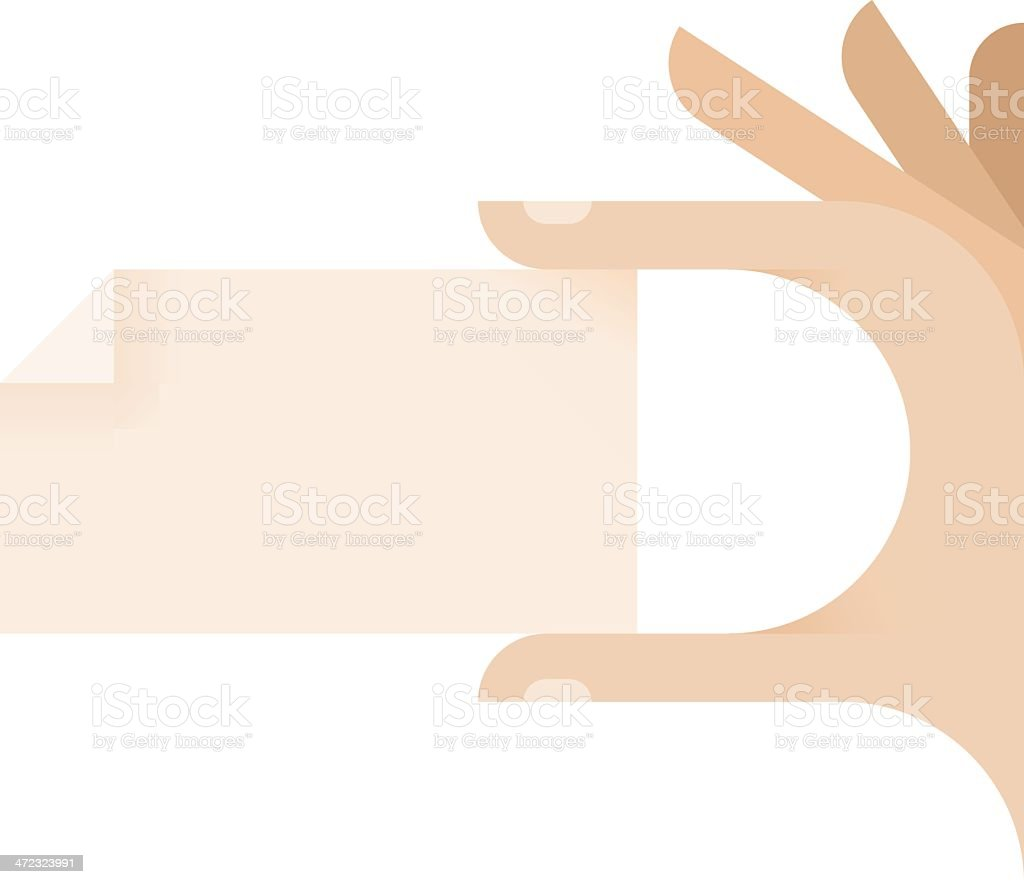 Hand with blank visit card royalty-free stock vector art