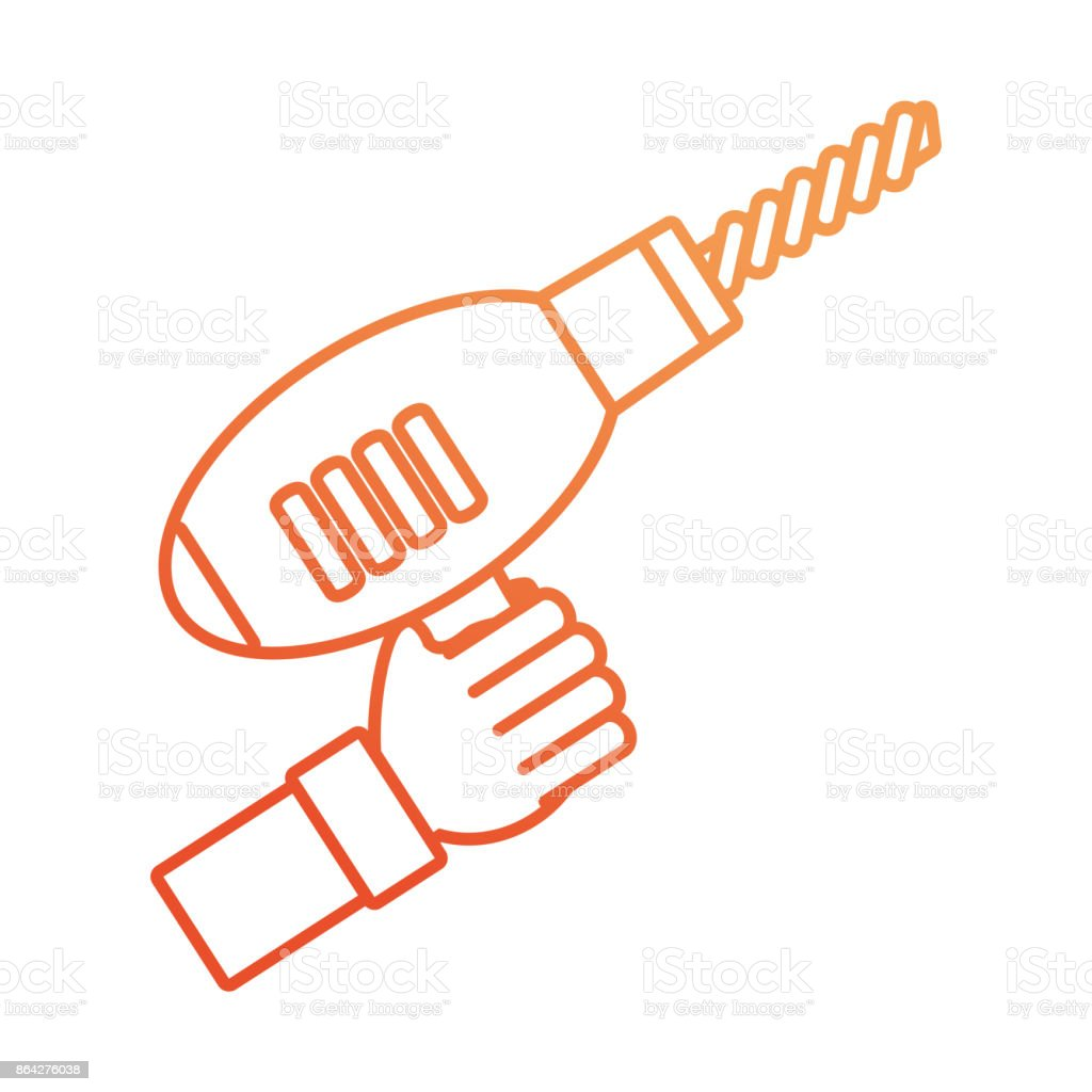 hand  with drill vector illustratio royalty-free hand with drill vector illustratio stock vector art & more images of adult