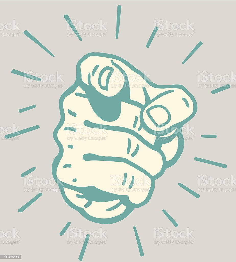 Hand with Finger Pointing Out vector art illustration