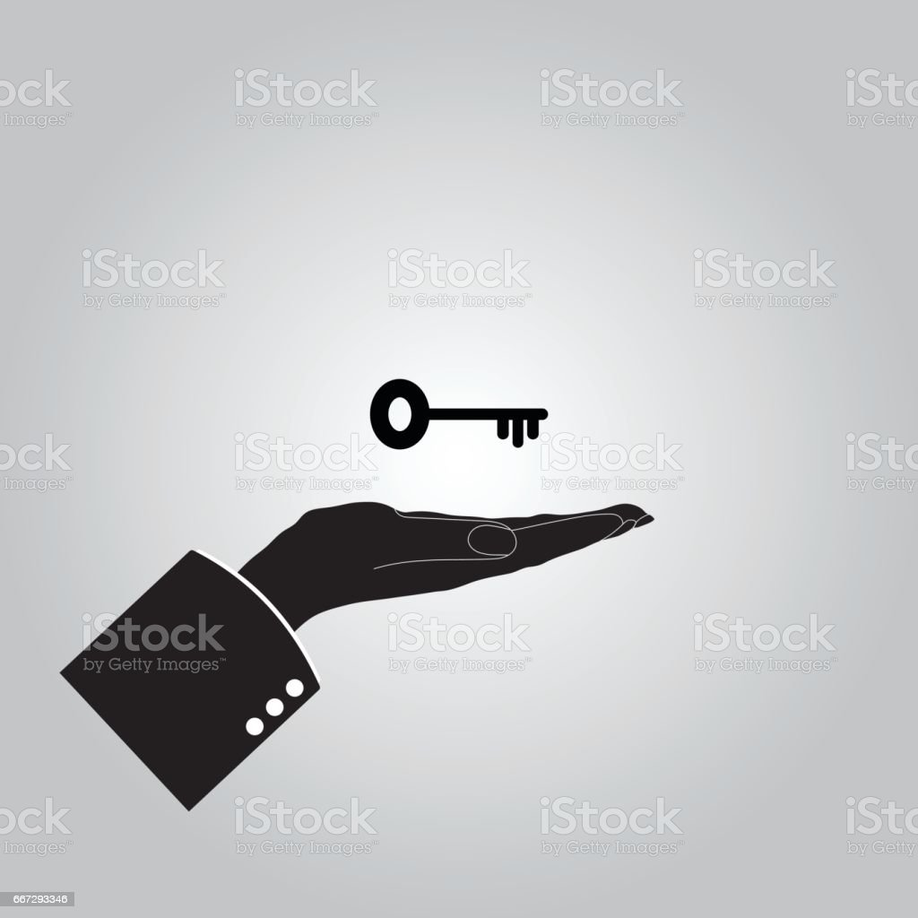 hand with keys icon - illustrazione arte vettoriale