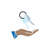 istock Hand with Keys - Rideshare Icon 1152698614