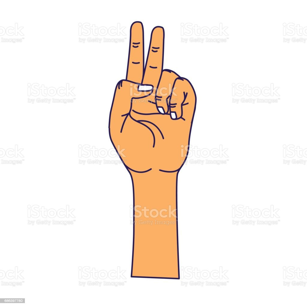 Hand with middle finger and fingerprint up symbol stock vector art hand with middle finger and fingerprint up symbol royalty free stock vector art buycottarizona