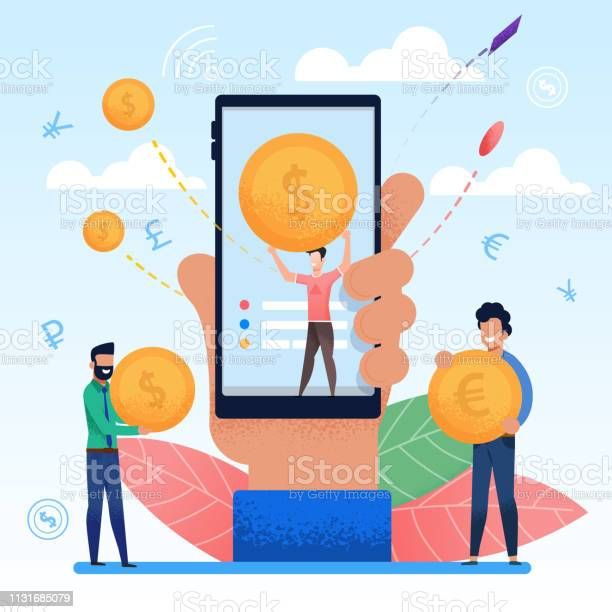Hand with mobile phone display is man with coin vector id1131685079?b=1&k=6&m=1131685079&s=612x612&h=zlb4lpolaq mldvvfqgiellpejl ekjvyulhajs74ak=