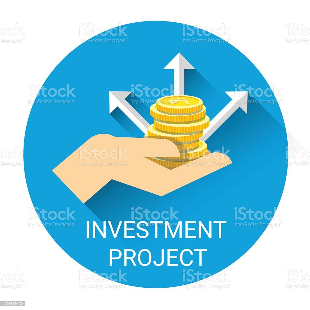Hand With Money Coin Investment Project Business Icon royalty-free hand with money coin investment project business icon stock vector art & more images of bank