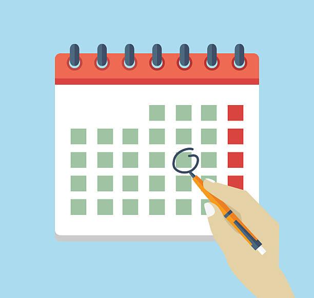 Calendar Illustration : Royalty free mark your calendar clip art vector images