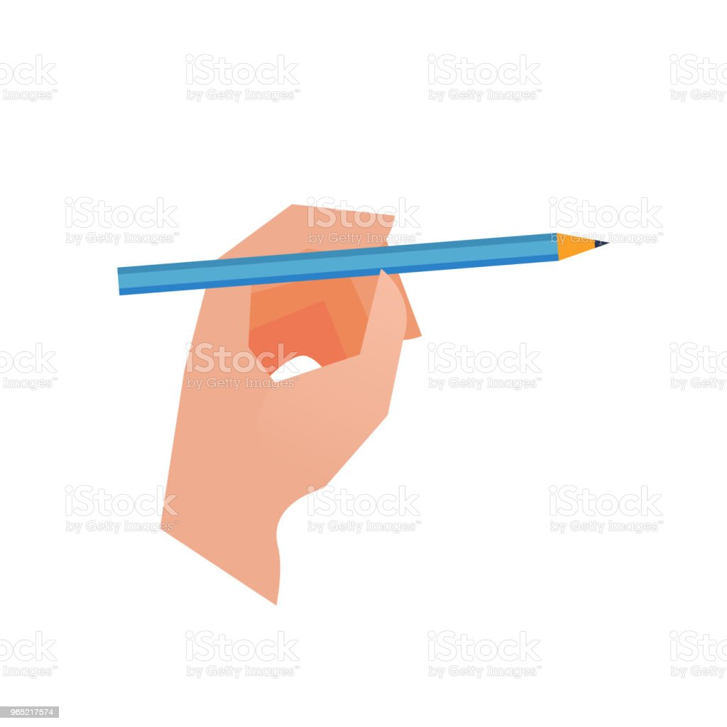 Hand with pencil on white background hand with pencil on white background - stockowe grafiki wektorowe i więcej obrazów biznes royalty-free
