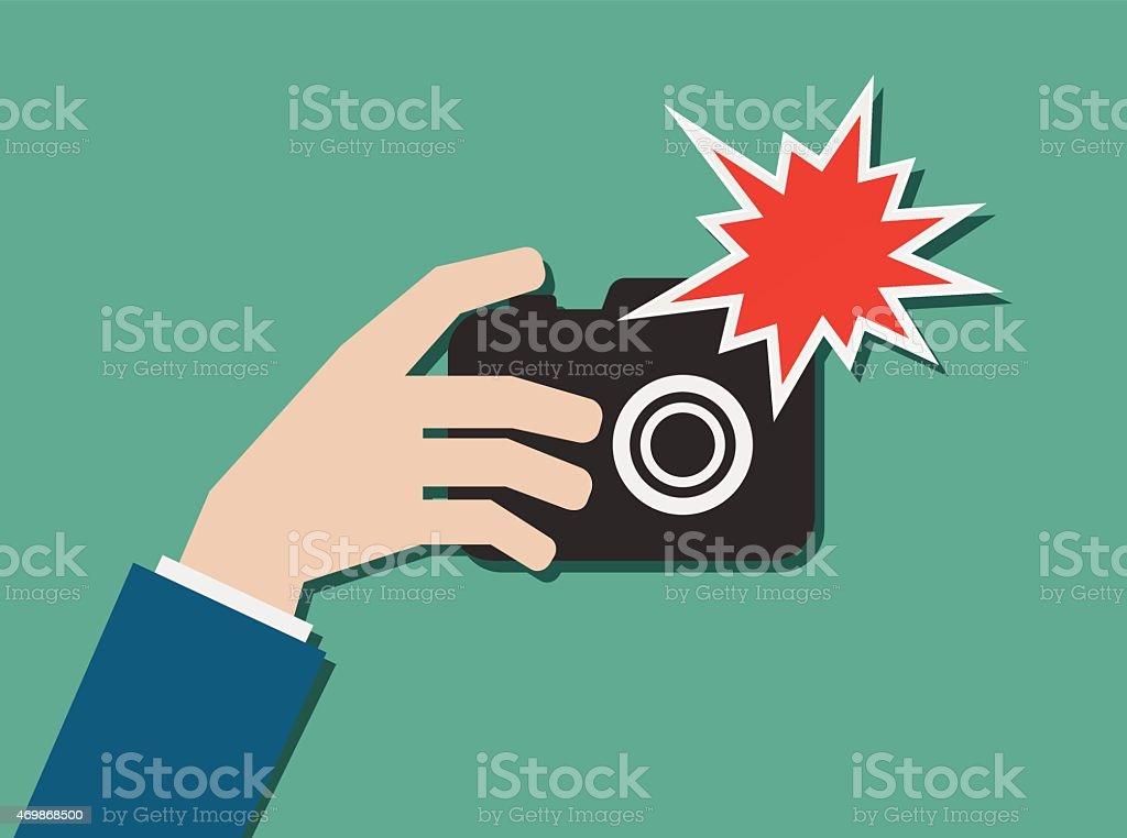royalty free camera flash clip art vector images illustrations rh istockphoto com Photography Clip Art Food Clip Art