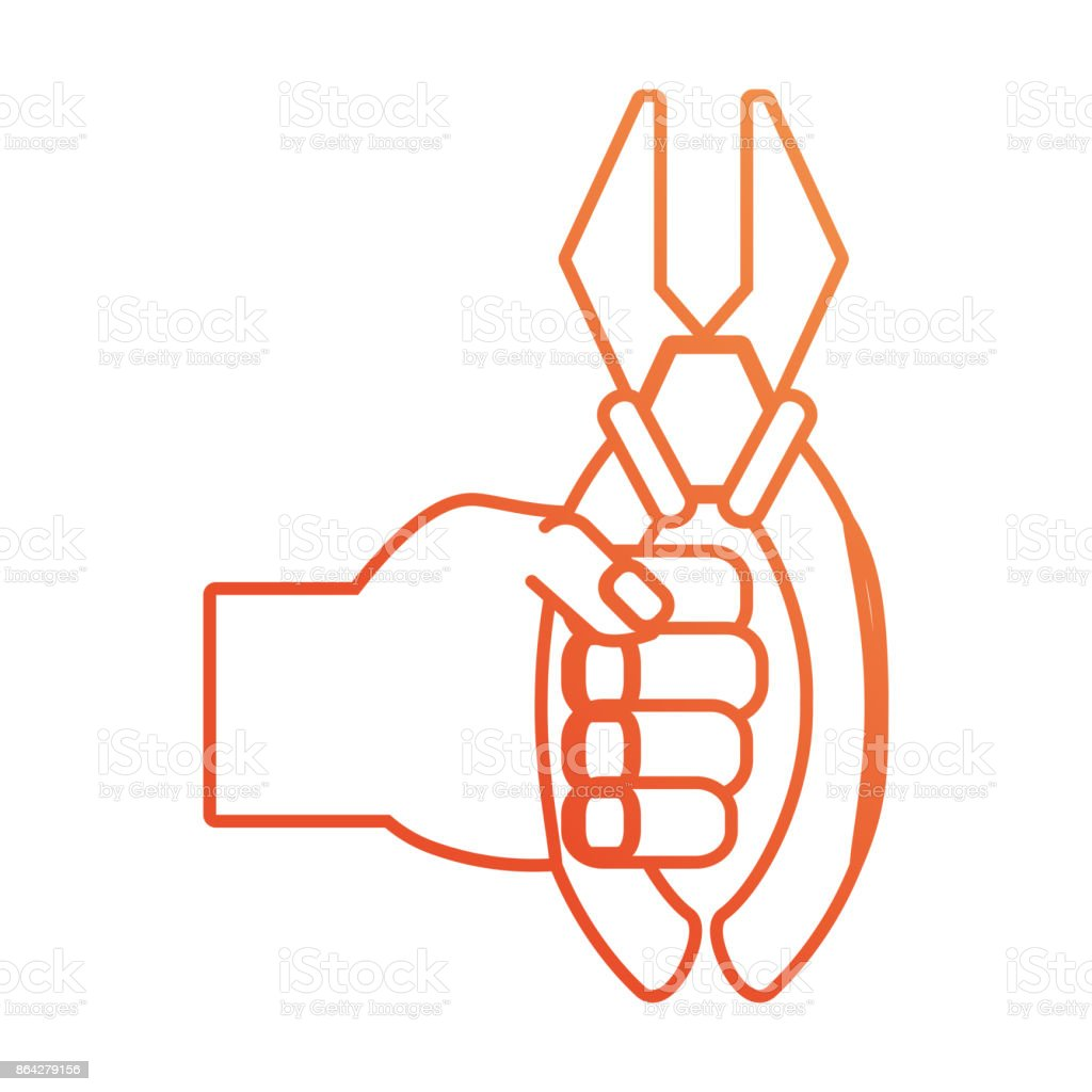 hand with plier vector illustration royalty-free hand with plier vector illustration stock vector art & more images of adult