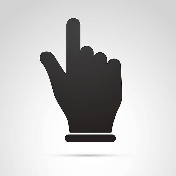 stockillustraties, clipart, cartoons en iconen met hand with pointing finger icon isolated on white background. - menselijke vinger
