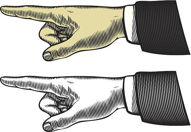 illustrazioni stock, clip art, cartoni animati e icone di tendenza di mano con il dito che - mancino