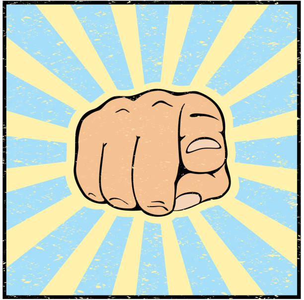 Hand with pointing finger Hand with pointing finger on grunge background, illustration. uncle sam stock illustrations