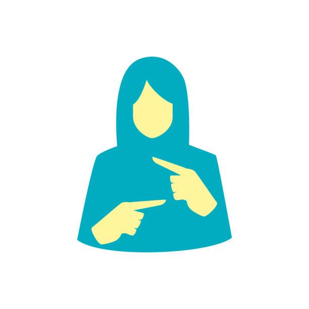 illustrazioni stock, clip art, cartoni animati e icone di tendenza di hand with sign language gesture on transparent background - sordità