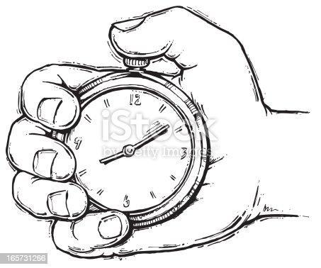 Main Avec Chronomètre