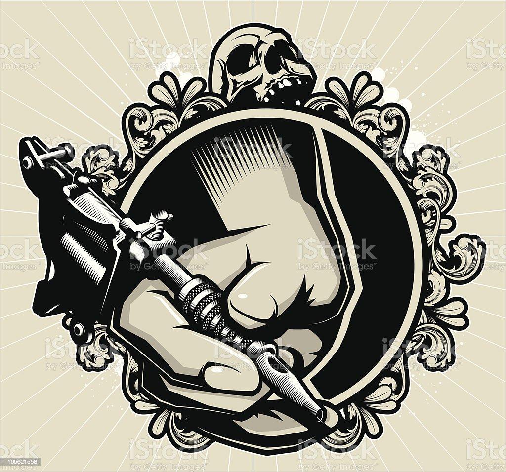 tattoo machine clip art, vector images & illustrations - istock
