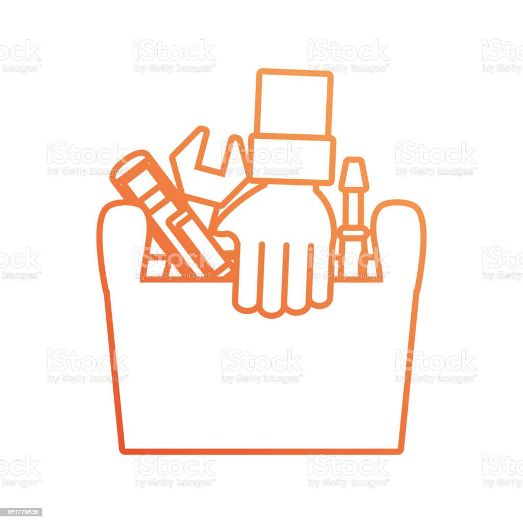 hand with tool box vector illustration royalty-free hand with tool box vector illustration stock vector art & more images of adult