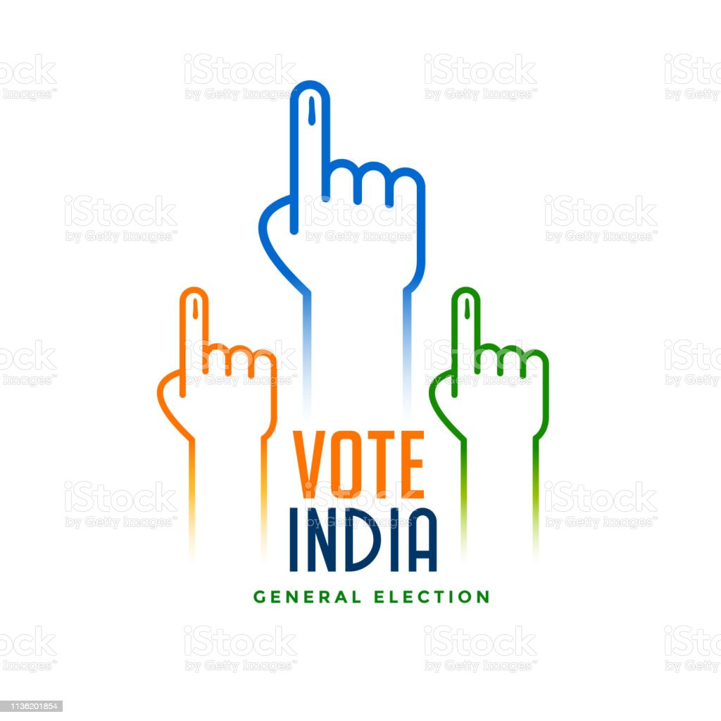 hand with voting sign for election royalty-free hand with voting sign for election stock illustration - download image now