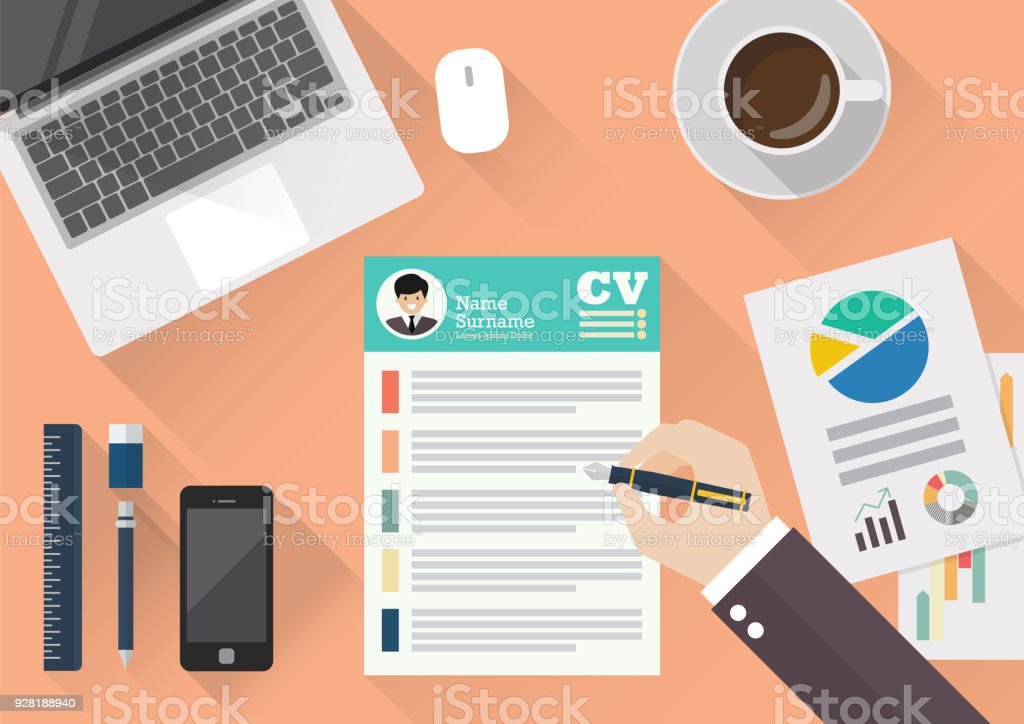 top 60 resume writing clip art  vector graphics and illustrations