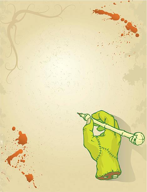 Main écrire Halloween invite - Illustration vectorielle