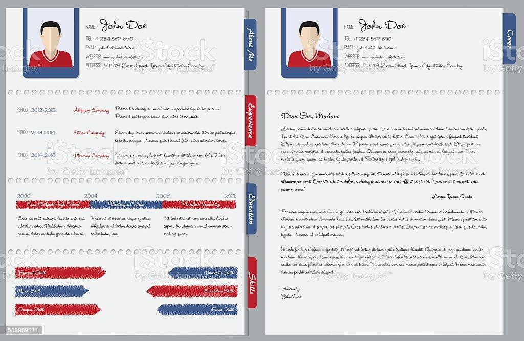 Mano Por Escrito Con Carta De Cv Illustracion Libre de Derechos ...