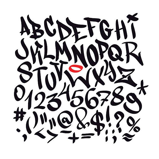 Graffiti Buchstaben Vorlagen Vektorgrafiken und Illustrationen - iStock