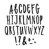 istock Hand written grunge font. 695136670