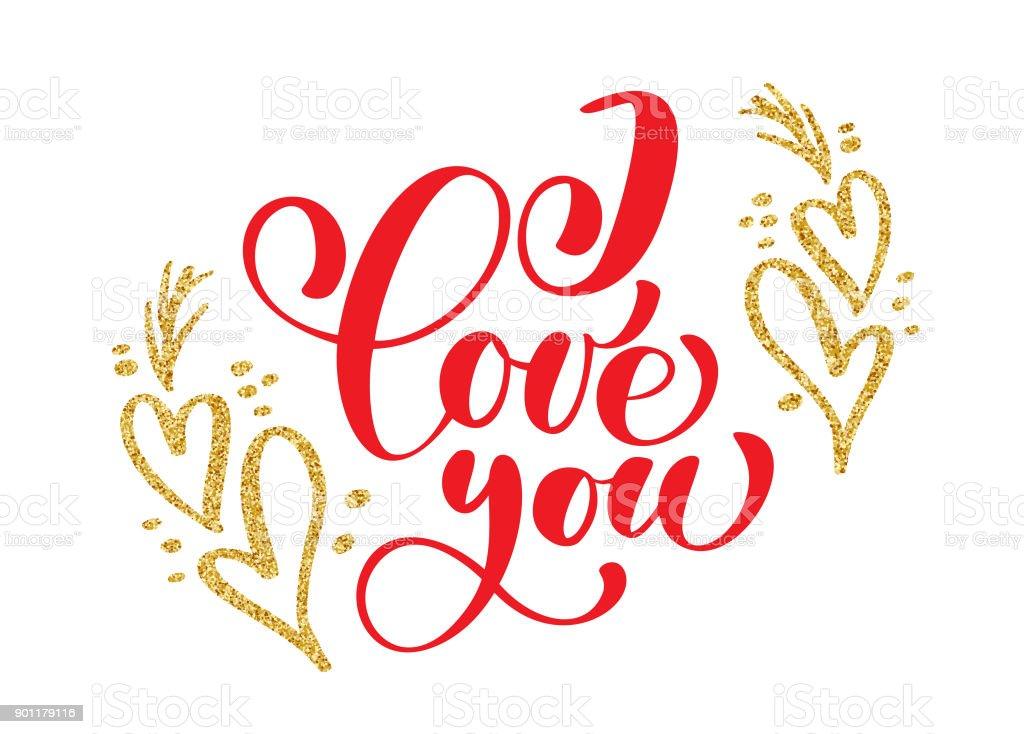 Handgeschriebene Aufschrift I Love You Auf Dem Hintergrund Der ...
