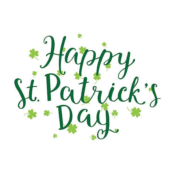Hand geschrieben Buchstaben von glücklichen St. Patricks Tag – Vektorgrafik