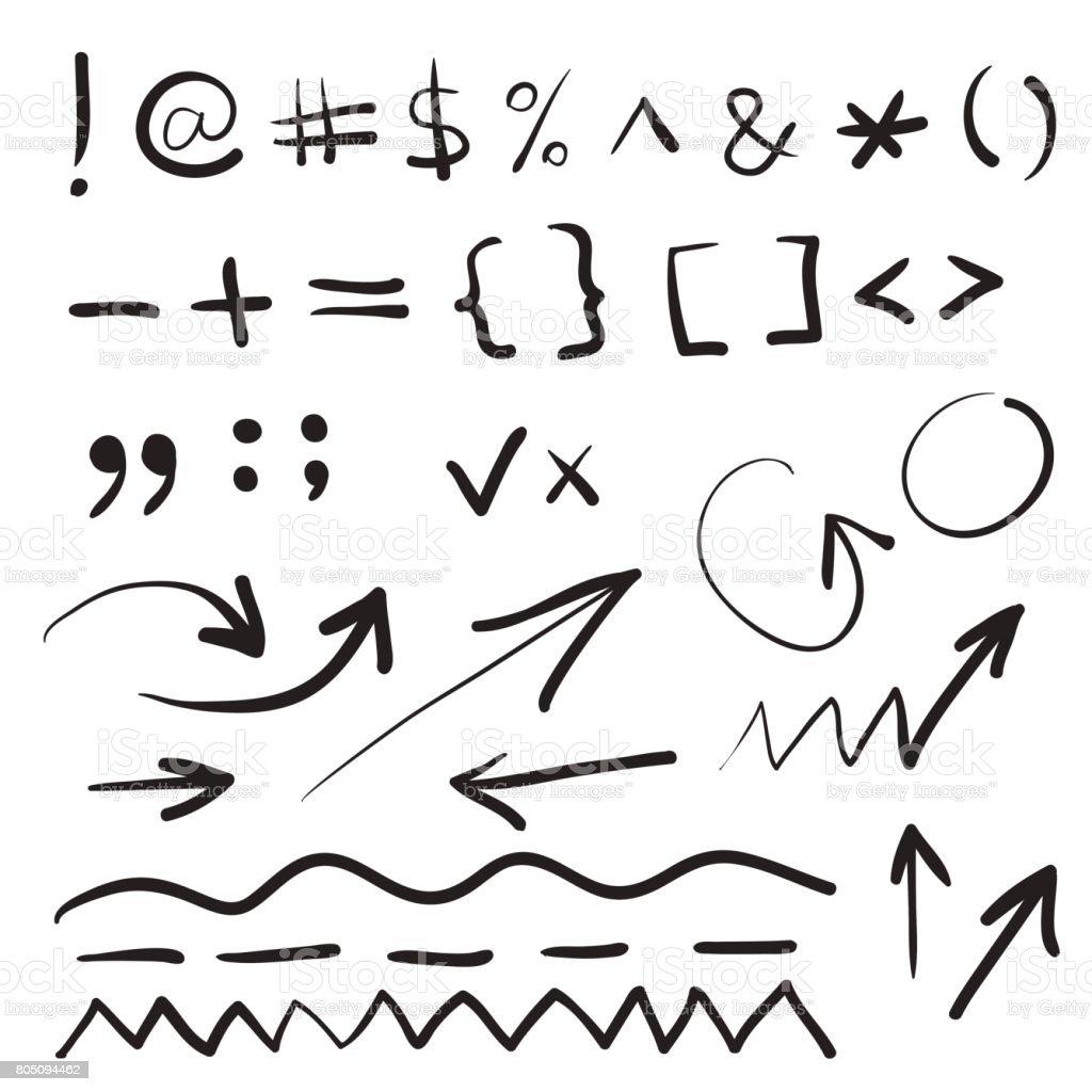 Signes de vecteur pour le stylo marqueur manuscrite signes de vecteur pour le stylo marqueur manuscrite vecteurs libres de droits et plus d'images vectorielles de affaires libre de droits