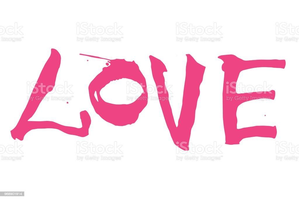 Ilustracion De Letras Rosa Amor Sobre Un Fondo Blanco Para El Dia De