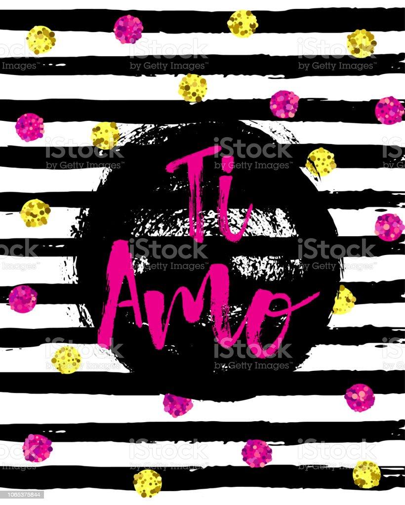 Hand Written Ti Amo Phrase Translation I Love You Italian Popular
