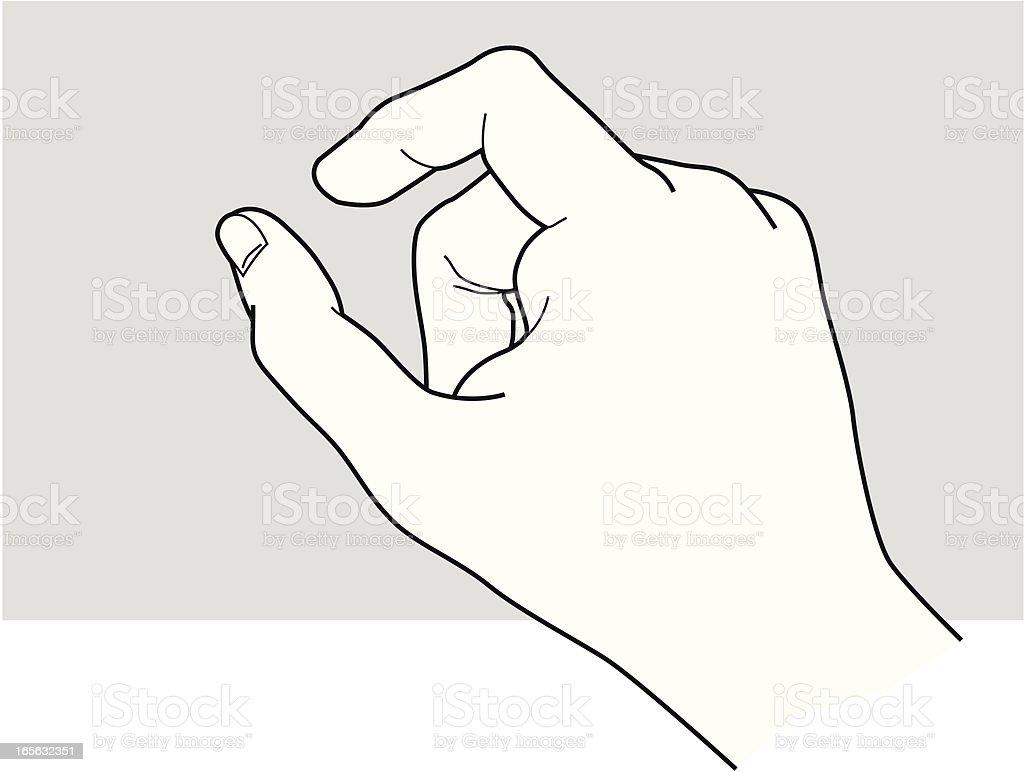 Hand_Holding_3 vector art illustration